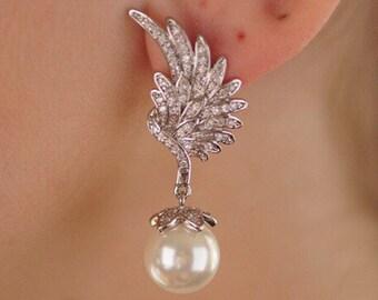 Bridal Earrings, Bridesmaid Earrings, Wedding Jewelry, Bridal Jewelry, Wedding Earrings, Bridal Jewelry, Swarovski Pearl Earrings