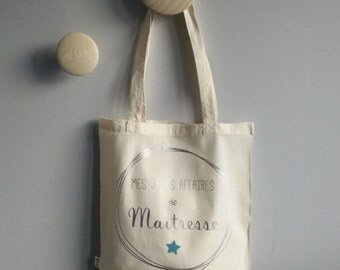 "Tote Bag ""My pretty mistress business"" - organic cotton"