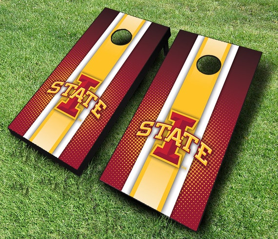 Officially Licensed Iowa State Cylones Striped Cornhole Set