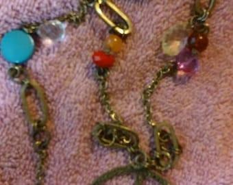 Vintage 70's peace sign necklace