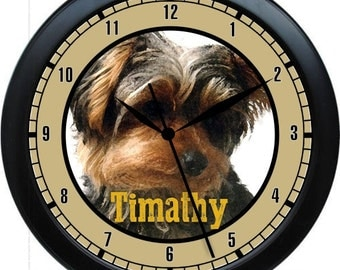"""Yorkshire Terrier  10"""" Personalized Wall Clock Gift"""