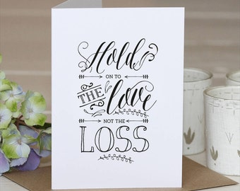 With Sympathy Card // Sympathy Card // Break up Card // Sympathy // Bereavement // Loss