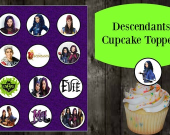 Disneys Descendants Cupcake Toppers printable