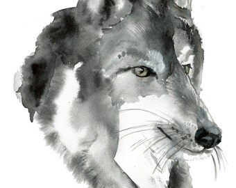 Wolf Painting.Wolf print.Wolf art.Wolf decor.Wolf art. Digital download