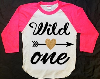 Wild One first birthday shirt, wild one shirt, aztec shirt, arrow shirt, hipster shirt, raglan shirt