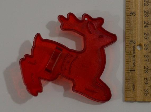 Vintage reindeer cookie cutter