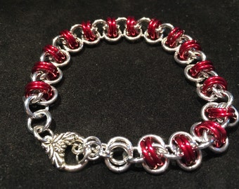 Chainmaille Barrel Weave Bracelet