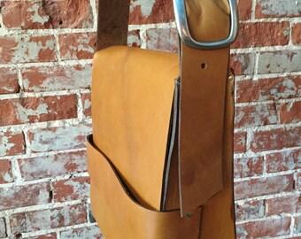 The Retro Satchel - Tan Leather