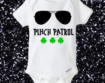 St. Patrick's Pinch Patrol Onesie, St. Patrick Onesie