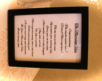 """Black 4"""" x 6"""" Frame with your choice of 1 of 3 poems."""
