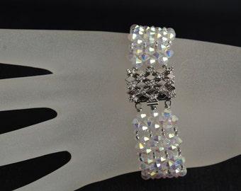 Bracelet crystal swarovski crystal Swarovski crystal rhinestone clasp ab2x