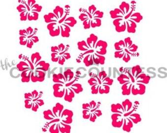 Hibiscus Flower Stencil