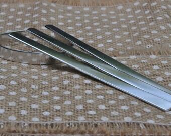 50 Polished 3/8' x 6' Bracelet Cuff Blanks 14 Gauge Food Safe 1100 Aluminum- FLAT
