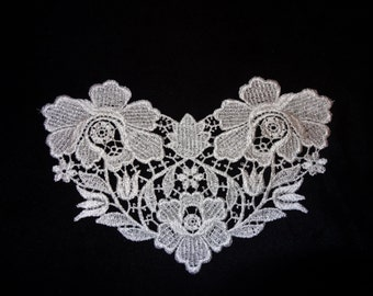 Floral Venise Lace Medallion - Lot of 6