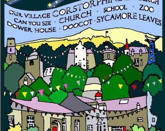 Corstorphine Village print - small