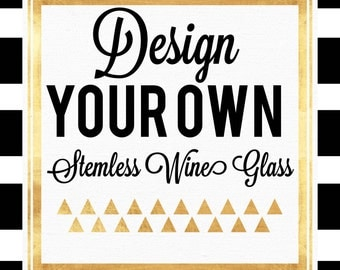 Design Your Own Stemless Wine Glass//Stemless Wine Glass//Glitter Dipped Wine Glass//Personalized Wine Glass//Glitter Dip Wine Tumbler
