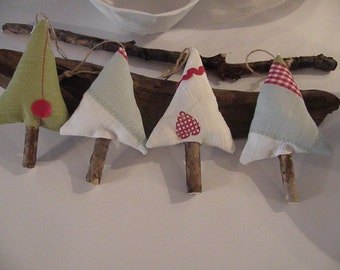 Scandinavian style Christmas tree ornaments. Scandinavian style Christmas tree ornaments