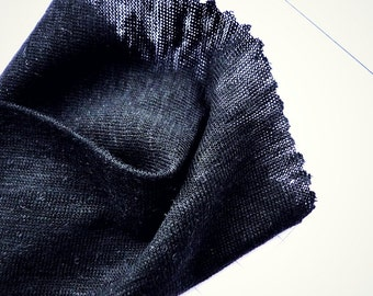 Linen knit fabric, black or white knit linen, organic fabric shop, SOLD BY 1/2 YARD