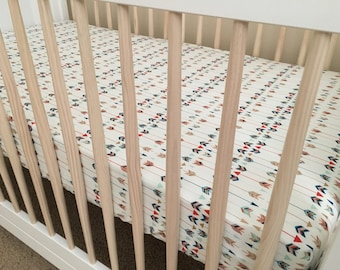 Tribal Bedding, Arrows Crib Sheet, Explorer Nursery arrows pattern, baby bedding, baby girl bedding, baby boy bedding, crib sheet, explorer
