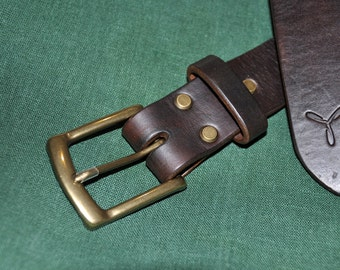 38 mm. Buffalo leather belt