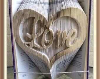 Heart Love Combination Cut and Fold Book Folding Pattern