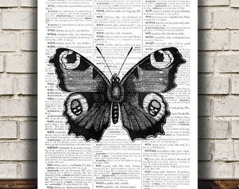 Butterfly poster Modern print Insect print Bug decor RTA473