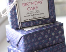 Cocoa Butter Soap, Creamy Lathering Body Soap, Birthday Cake Soap, Bar Soap, Sprinkle Soap, Cake Soap, Fun Soap, Novelty Soap, Bath Gift