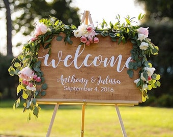 Wedding Welcome Sign, Wedding Decoration, Wedding Wood Sign, Wood Wedding Sign, Wood Welcome Sign, Wedding Gift, Custom wood Sign