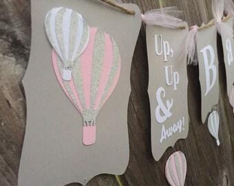 Hot Air Balloon Banner - Up, Up & Away!