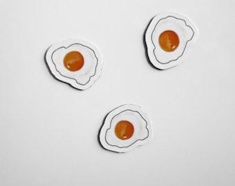 Mini magnets fried eggs 3 PCs