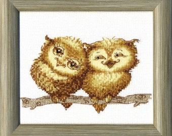 Cross Stitch Kit Small owlets