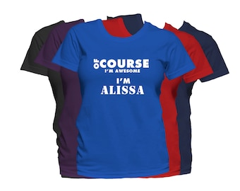 ALISSA Womens First Name T Shirt First Name Family Name Custom Personalized Name T-Shirt