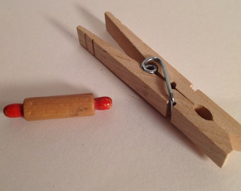 Vintage Miniature Dollhouse Kitchen Rolling Pin