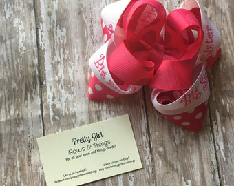 Big Sister Stacked Bow, baby shower gift, big sister announcement, baby announcement