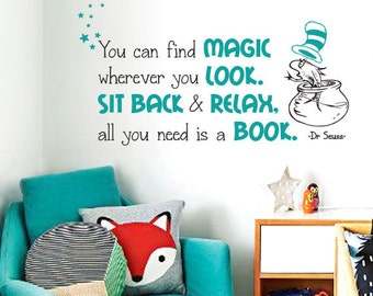 Dr. Seuss Quote Wall Decal - Wall Decal and Wall decordecor
