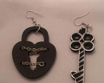 Key to my heart earrings