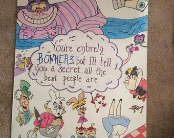 Alice in Wonderland Canvas Paintings