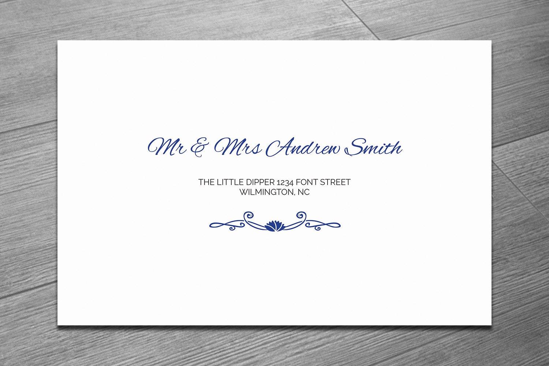 Printable Wedding Envelope Template Diy Editable MS Word