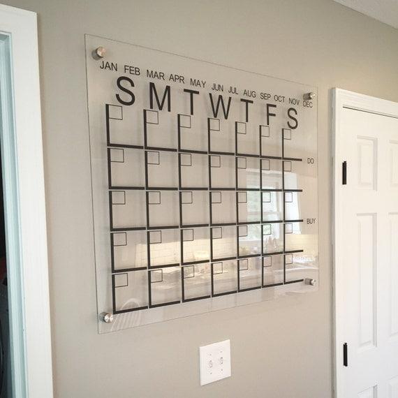 Family Calendar Wall : Large acrylic monthly calendar family