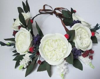 Flower wedding Bridal hair Gift /for/ women Wedding hair flower Wedding headpiece Flowers /for/ bride Flower crown Flower headpiece Flower