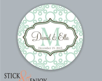 Custom Waterproof Wedding Stickers, Personalized Wedding Labels, Favor labels stickers
