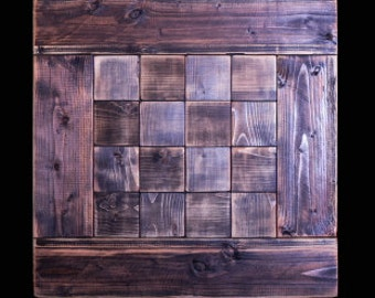Square Wooden Table Top