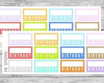 12 Birthday Labels