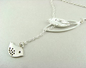 Necklace - leaf and Sparrow