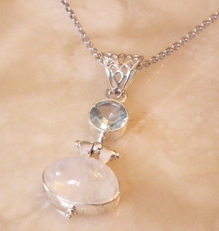 Moonstone Necklaces: Moonstone Necklaces Handmade Necklace 925K Sterling Silver