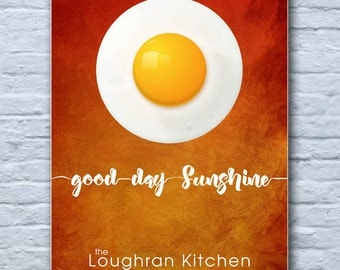 good day sunshine...personalised kitchen print