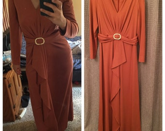 Gorgeous Vintage Henry-Lee Gown in Rust