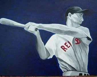 Ted Williams Boston Red Sox Acrylic painting