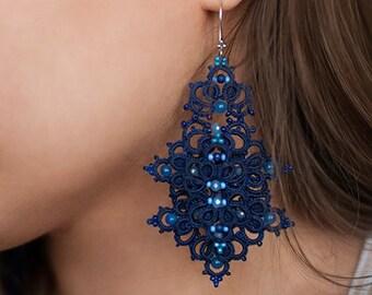 Anchor giant earrings