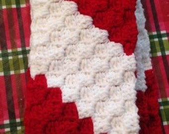 Crochet Christmas Scarf